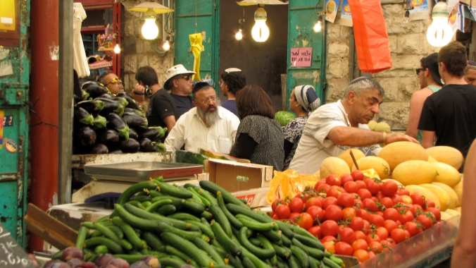 Shuk in downtown Jerusalem