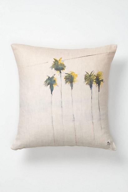 anthro five palms pillow