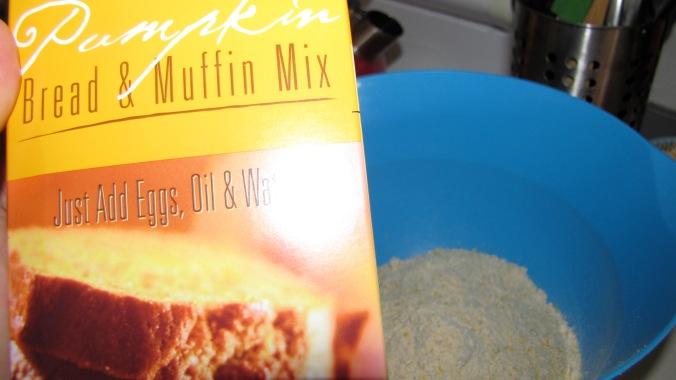 the goods: TJ's Pumpkin Muffin Mix