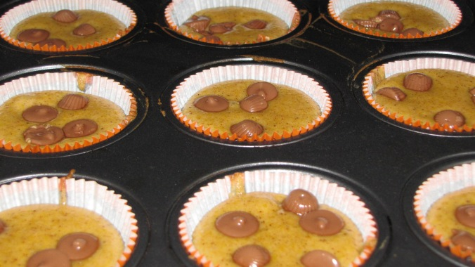 in they go! peanut butter cups and all
