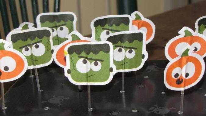 little cake topper monsters