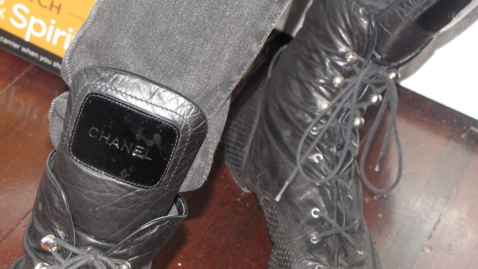 vintage Chanel booties!!!!!