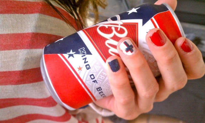 4th of July mani by Erica for Julep