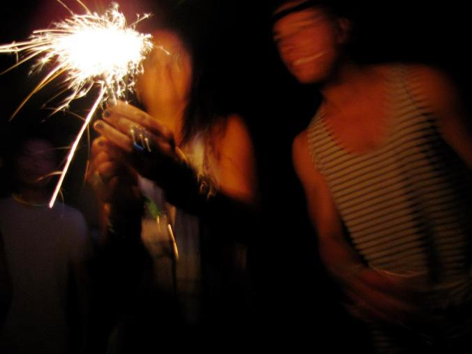 Sparklers for Heads Will Roll @ the Yeah Yeah Yeah's