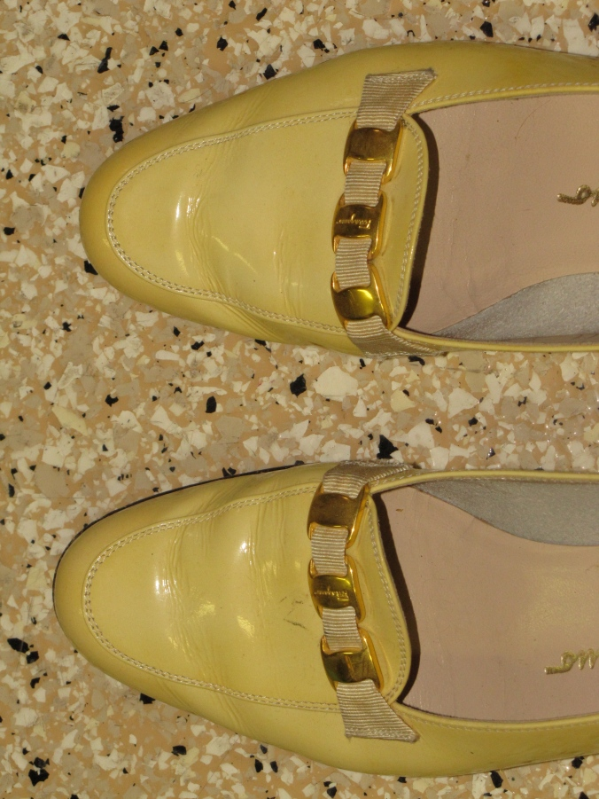 ferragamo loafers close up