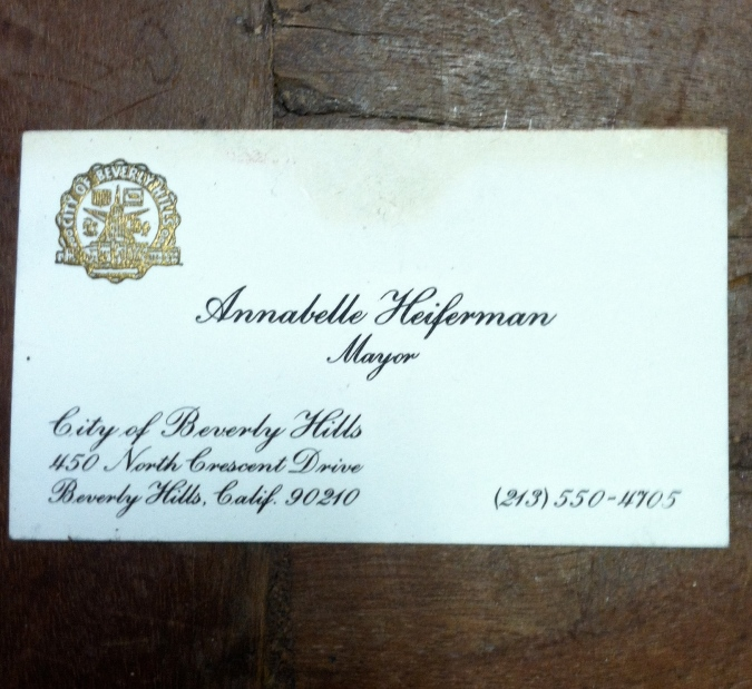 My Grandma's Business Card