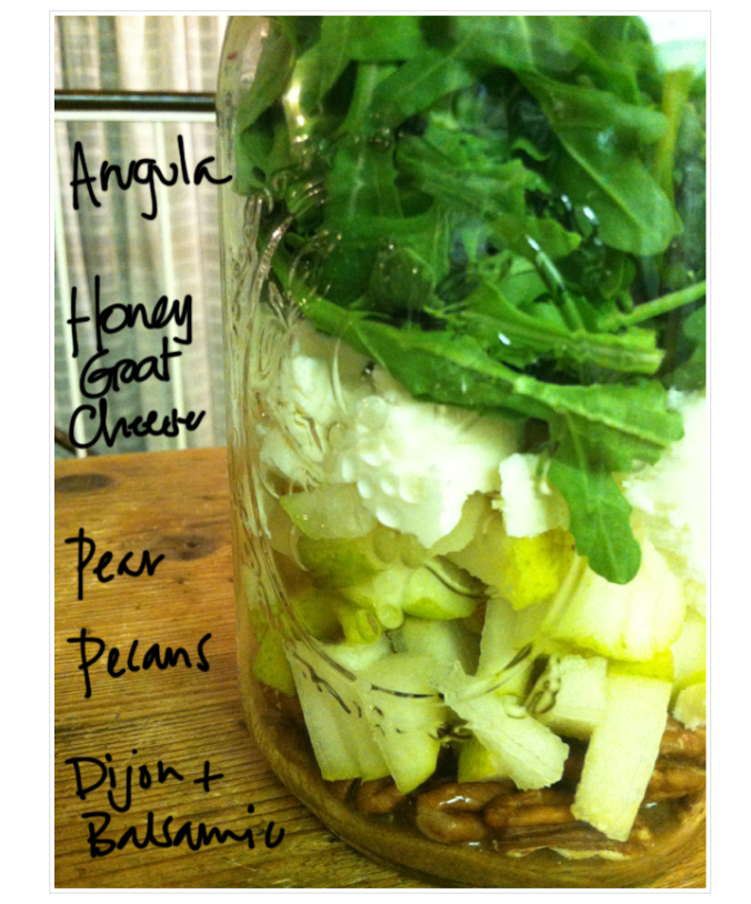Spring Salad in a jar