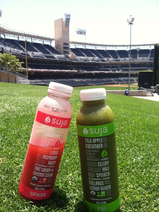 Suja in the sun at Petco Park