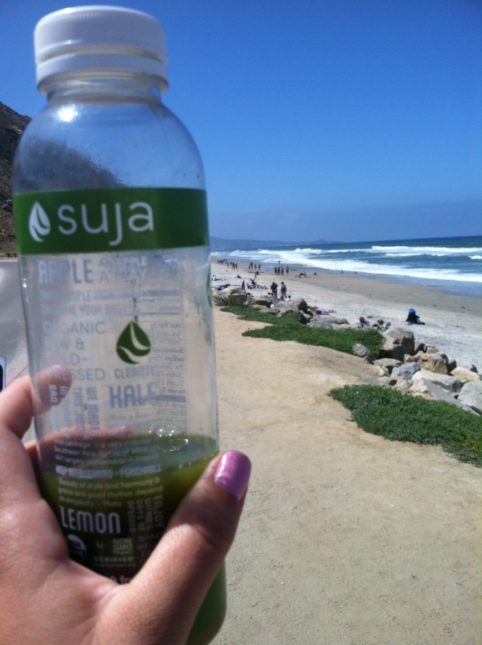 Hydrating on a hike up Torrey Pines State Reserve