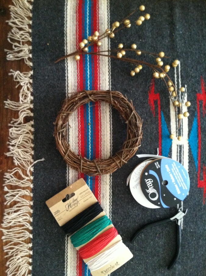 tools for nature inspired dreamcatcher