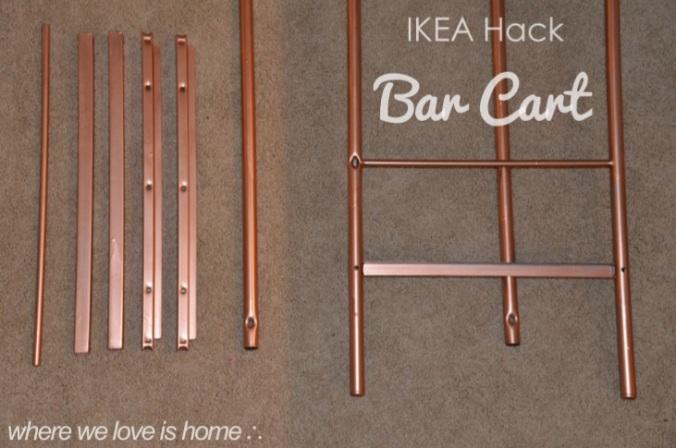 ikea hack bar cart
