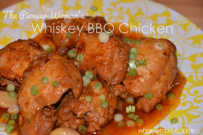 Pioneer Woman Whiskey Peach BBQ Chicken