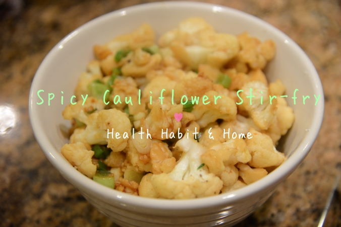 Spicy Cauliflower Stir-fry